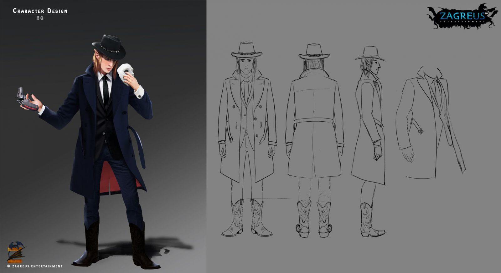 Character Concept Design Portfolio : D character design hq ze zagreus ent
