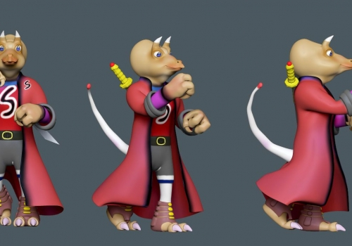 Cartoon Character – Low Poly