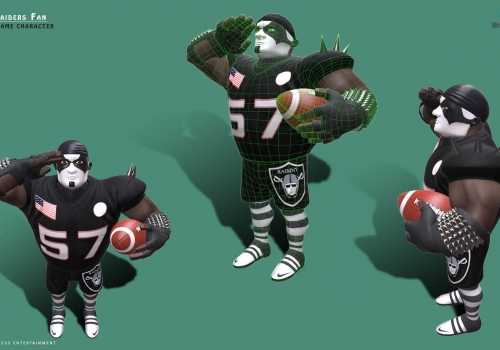 Raiders Fan – Character – Rigged with Facial UI