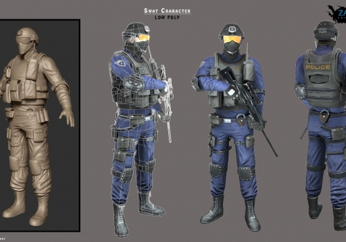 SWAT – Low Poly Character