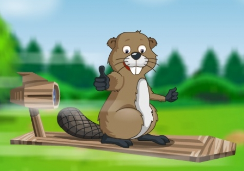 Beaver On Hoverboard – 2D Game